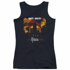 The Amityville Horror Juniors Tank Top Get Out Black Tanktop
