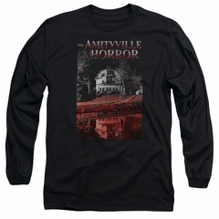 The Amityville Horror Long Sleeve Shirt Cold Red Black Tee T-Shirt