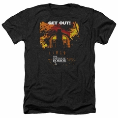 The Amityville Horror Shirt Get Out Heather Black T-Shirt