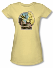 The Bionic Woman Shirt Juniors Jamie & Maximillian Banana Tee T-Shirt