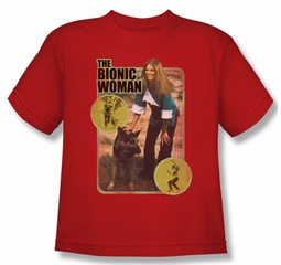 The Bionic Woman Shirt Kids Jamie And Max Red Youth Tee T-Shirt