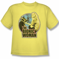 The Bionic Woman Shirt Kids Jamie & Maximillian Banana Youth Tee T-Shirt