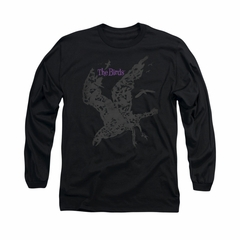 The Birds Shirt Poster Long Sleeve Black Tee T-Shirt