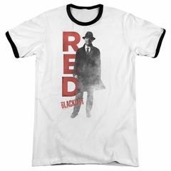 The Blacklist Red Reddington White Ringer Shirt