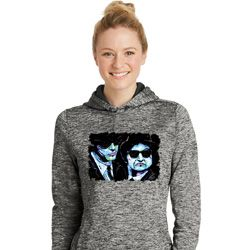 The Blues Brothers Profiles Ladies Moisture Wicking Hoodie