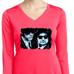 The Blues Brothers Profiles Ladies Moisture Wicking Long Sleeve Shirt