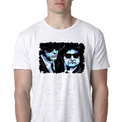 The Blues Brothers Profiles Mens Burnout Shirt