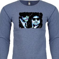 The Blues Brothers Profiles Mens Long Sleeve Thermal Shirt