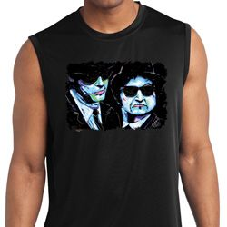 The Blues Brothers Profiles Mens Sleeveless Moisture Wicking Shirt