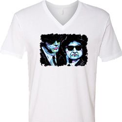 The Blues Brothers Profiles Mens V-Neck Shirt