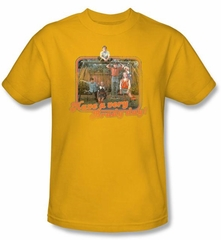 The Brady Bunch Kids T-shirt Have a Very Brady Day Youth Gold Tee