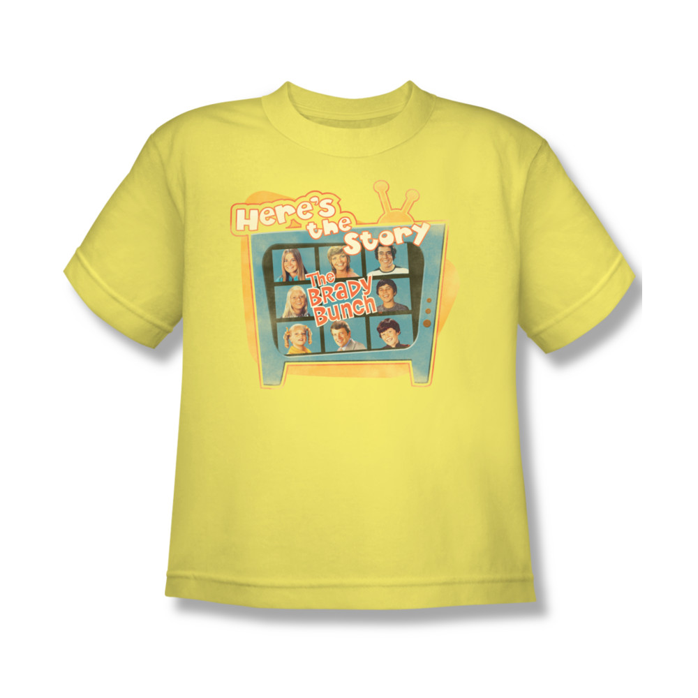 Brady Bunch Heres The Story Youth T-shirt