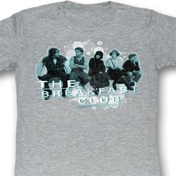 The Breakfast Club Juniors Shirt Bubbles Heather Grey Tee T-Shirt