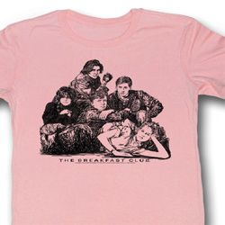 The Breakfast Club Juniors Shirt Group Light Pink Tee T-Shirt