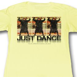 The Breakfast Club Juniors Shirt Just Dance Yellow Tee T-Shirt