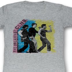 The Breakfast Club Juniors Shirt Three Dudes Grey Tee T-Shirt