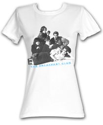 The Breakfast Club Juniors T-Shirt BFC Group Shot White Tee Shirt
