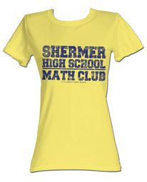 The Breakfast Club Juniors T-Shirt BFC Math Club Light Yellow Tee