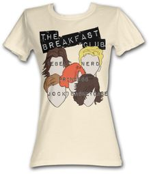 The Breakfast Club Juniors T-Shirt BFC Sterotypes Dirty White Tee