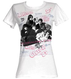 The Breakfast Club Juniors T-Shirt Group White Tee Shirt