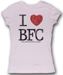 The Breakfast Club Juniors T-Shirt Lovin This Club Pink Tee Shirt