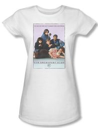 The Breakfast Club Juniors T-shirt Movie BC Poster White Tee Shirt
