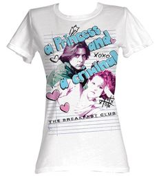 The Breakfast Club Juniors T-Shirts Princess/Criminal White Tee Shirt