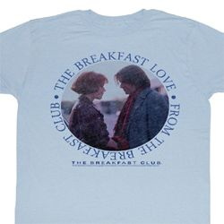 The Breakfast Club Shirt Breakfast Love Adult Light Blue Tee T-Shirt