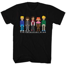 The Breakfast Club Shirt Cartoon Characters Black T-Shirt