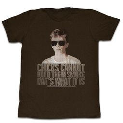 The Breakfast Club Shirt Chicks Can't Smoke Coffee Brown T-Shirt