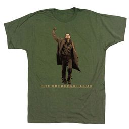 The Breakfast Club Shirt Fist Pump Army Green T-Shirt