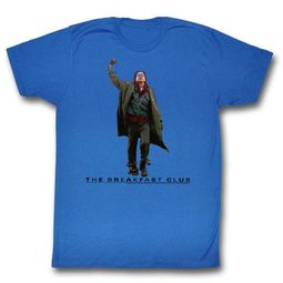 The Breakfast Club Shirt Fist Pump Royal Blue T-Shirt