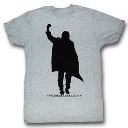 The Breakfast Club Shirt Fist Pump Silhouette Athletic Heather T-Shirt
