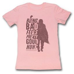 The Breakfast Club Shirt Juniors Being Bad Feels Good Light Pink T-Shirt