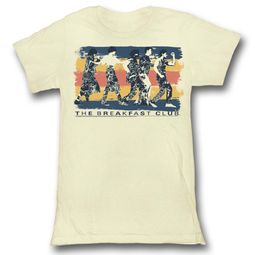 The Breakfast Club Shirt Juniors Dancing Cream T-Shirt