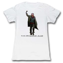 The Breakfast Club Shirt Juniors Fist Pump White T-Shirt