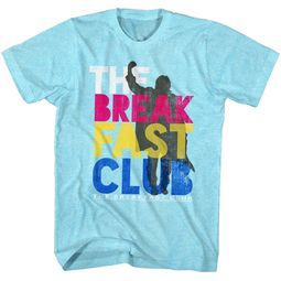 The Breakfast Club Shirt Multi Color Logo Light Blue T-Shirt