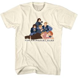 The Breakfast Club Shirt No Faces Off White T-Shirt