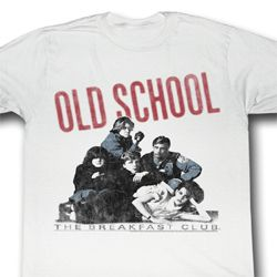 The Breakfast Club Shirt Old School Adult White Tee T-Shirt