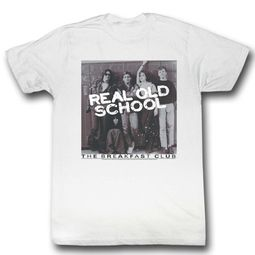 The Breakfast Club Shirt Real Old School White T-Shirt
