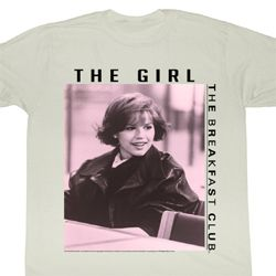 The Breakfast Club Shirt The Girl Adult Dirty White Tee T-Shirt
