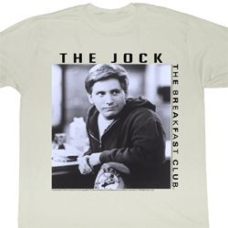 The Breakfast Club Shirt The Jock Adult Dirty White Tee T-Shirt
