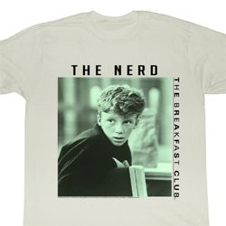 The Breakfast Club Shirt The Nerd Adult Dirty White Tee T-Shirt