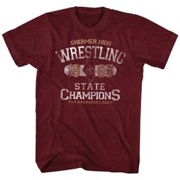 The Breakfast Club Shirt Wrestling Maroon T-Shirt