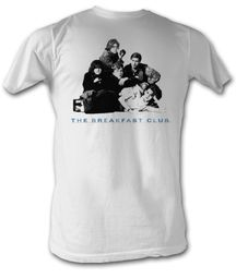 The Breakfast Club T-Shirt Group Adult White Tee Shirt