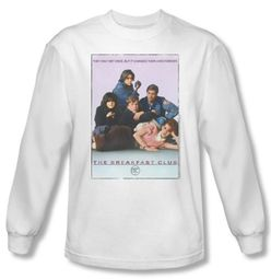 The Breakfast Club T-shirt Movie BC Poster White Long Sleeve Tee Shirt