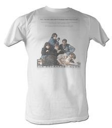 The Breakfast Club T-Shirt Movie BFC Poster Adult White Tee Shirt
