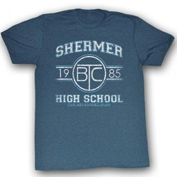 The Breakfast Club T-Shirt Movie Shermer HS Adult Blue Heather Shirt