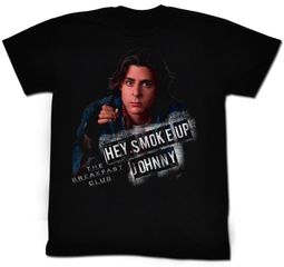 The Breakfast Club T-Shirt Movie Smoke Up Adult Black Tee Shirt