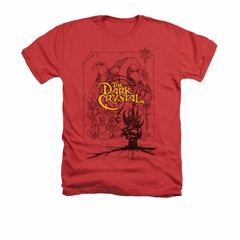 The Dark Crystal Shirt Poster Lines Adult Heather Red Tee T-Shirt